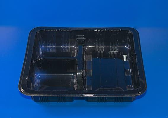 Ланч бокс 3-ч секционный 220х190мм H-50mm 633 cум (1)